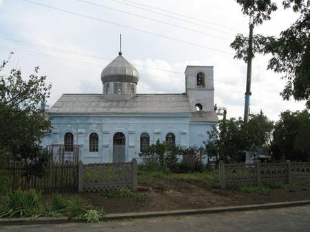 Kyrkan  en vecka innan besöket