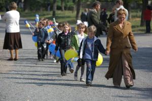 Skolbarnen på väg nu