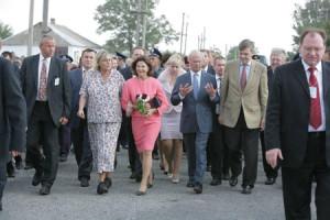 Promenad från kyrkan mot dagis
