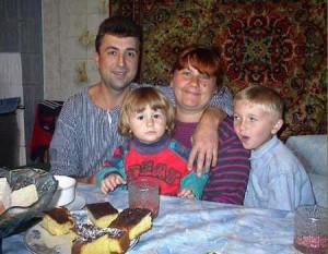 Sacha Malmas med familj