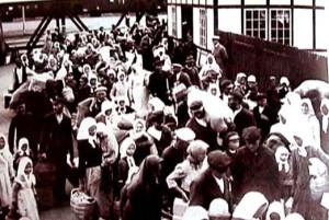 Ankomsten till Sverige och Trelleborg den 1 aug 1929