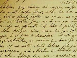 Brev till Sverige skrivet av Alvina Annas - hon ansågs av ryssarna vara en spion genom sitt brevskrivande till Sverige. Alvina Annas blev senare på 1930-talet avrättad av ryssarna.
