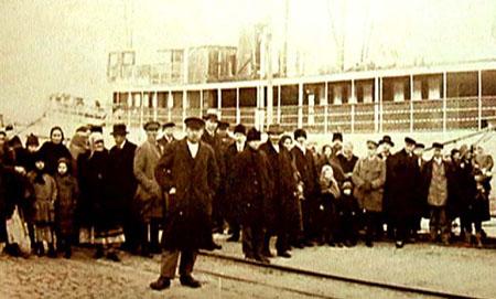 Byborna anländer till Gotland 1931