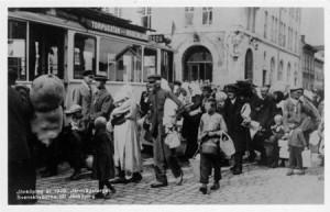 Svenskbybor anländer till Jönkoping augusti 1929