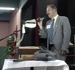 Jörgen Hedman having at lecture about the Svenskbyborna