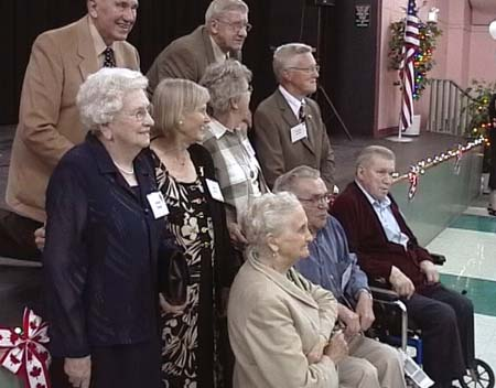 The elderly gathered for shooting