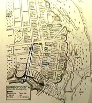 Karta över byn 1929