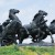 Kiev - monument över de rödas seger