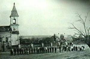 Kyrkan i Gammalsvenskby bild från 1920-talet