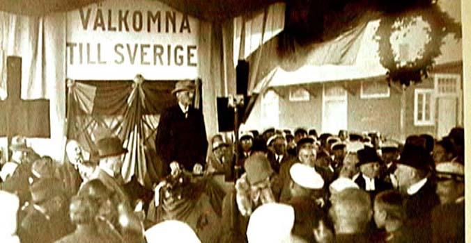 Prins Karl  tog emot i Trelleborg den 1 augusti  1929