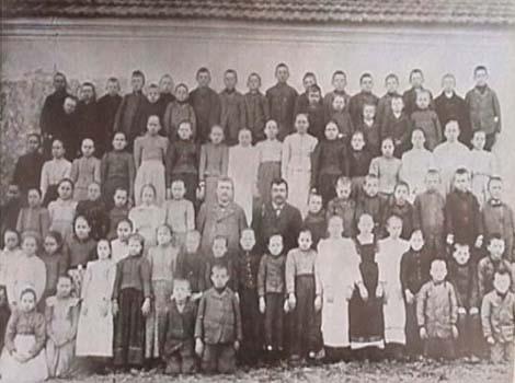 Skoloelever i byn 1929