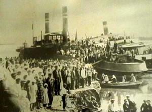 Avfärd till Sverige i juli 1929 med hjulångare ner till Svarta havet