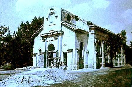 Kyrkan i ruin 1935